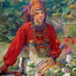 'The Mordvinian teacher' 1937. Artist Fedot Sychkov