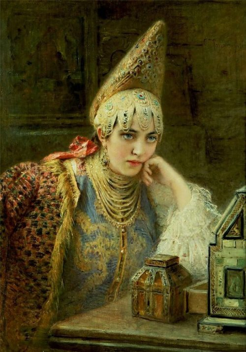 Konstantin Makovsky. The Young Bride