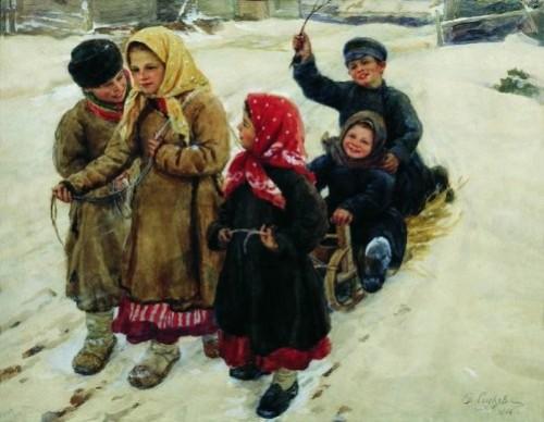 'Troika', 1906. Artist Fedot Sychkov