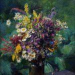 'Wildflowers' 1942. Artist Fedot Sychkov