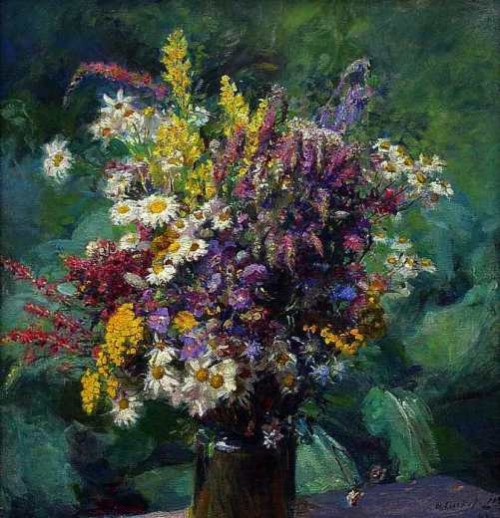 'Wildflowers' 1942. Russian artist Fedot Sychkov