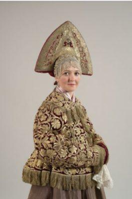 Mid-19th century. Nizhny Novgorod province. Women's festive costume.