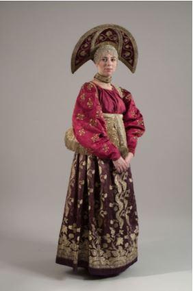 Women's holiday costume. XIX century. Nizhny Novgorod province.