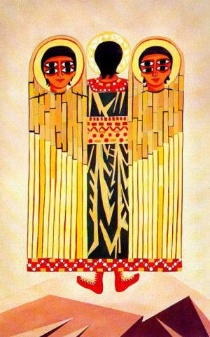 Cherub, 1915 (1914). Costume design for the unrealized ballet by Leonide Massine 'Liturgy'