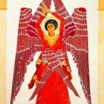Seraphim, 1915 (1914). Costume design for the ballet by Leonide Massine 'Liturgy'