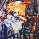 The weaver (loom+woman), 1912-1913