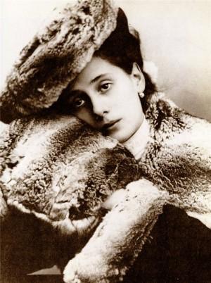 Melancholic portrait of Anna Pavlova