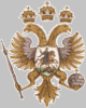 Coat of arms of the Great Seal of Tsar Alexei Mikhailovich, 1667 (drawing from Tsar's titulyarnik)