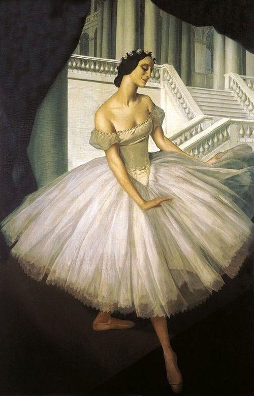 Painting by artist Alexander E. Yakovlev (1887-1938)
