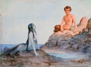 Mermaid and faun