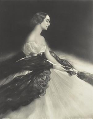 Old postcard. Russian ballerina Anna Pavlova (1881-1931)