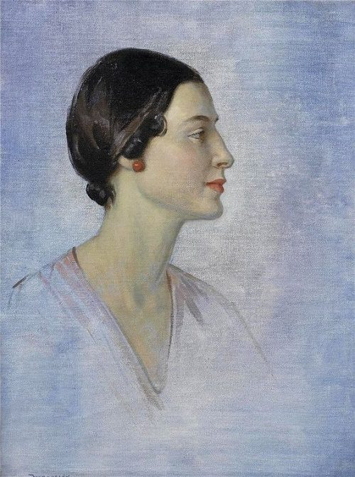 Study of Anna Pavlova. Painting by Garnet Ruskin Wolseley (British, 1884-1967)
