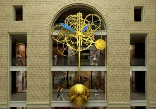 The world largest mechanical clockwork, made by Petrodvorets Watch Factory 'Raketa' in Peterhof, Russia