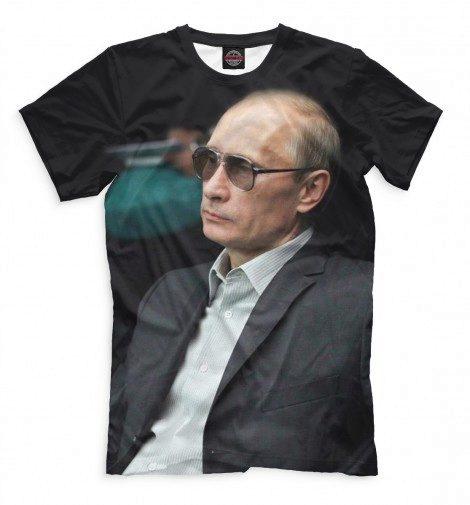 Russian girls wearing presidential T-shirts