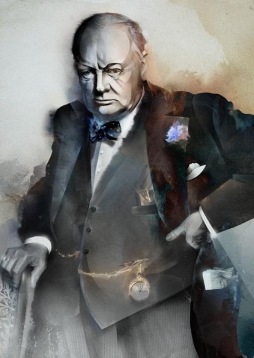 Moscow illustrator Alexey Kurbatov. Charles de Gaulle
