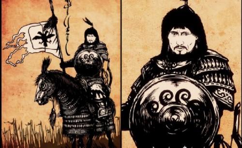 Putin is our Khan. Russian president Vladimir Putin as a Mongol Khan. Drawing by Yakut artist Denis Tsyrenzhapov