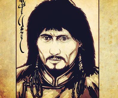 Russian president Vladimir Putin as a Mongol Khan. Drawing by Denis Tsyrenzhapov