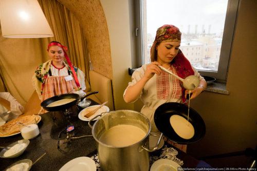 Prepare Russian pancakes