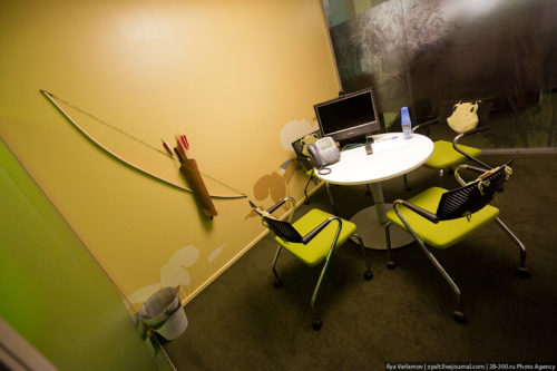 Russian Google office. Meeting room in the style of a plot from the fairy tale