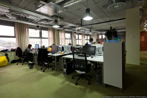 The Moscow office currently has about 100 employees.Russian Google office