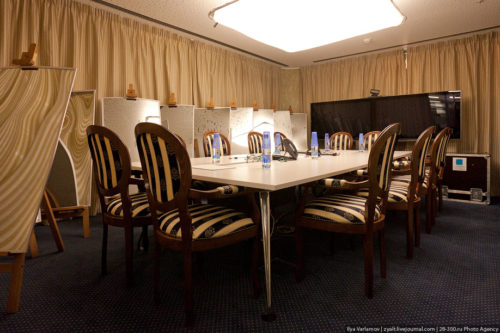 Negotiation table. Russian Google office