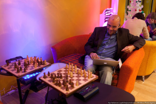Game of chess. Russian Google office