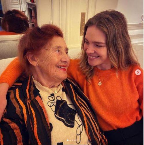 Natalia Vodianova with her grandmother