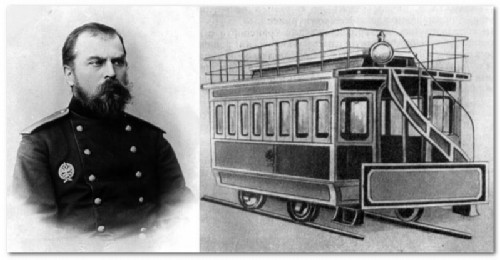FA Pirotsky - the world's first electric tram