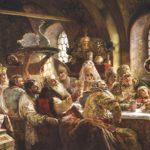 Painting 'Boyarsky wedding feast' by artist Konstantin Makovsky