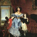 Portrait of Countess Samoilova by the famous Russian artist Karl Briullov