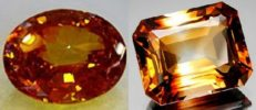 Mineralogical province Russian Brazil. Jewelry made of Wine-yellow topaz