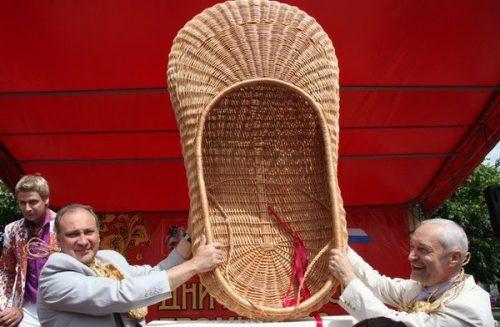 Russian folk footwear Lapti