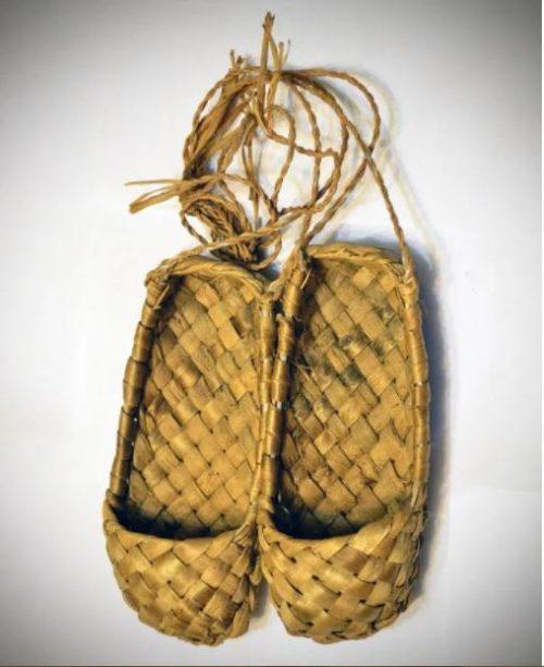 Russian bast shoes. Ryazan Oblast.
