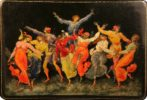 Casket 'Dances'. Ivan Ivanovich Golikov, 1929. Palekh