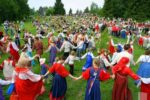 Russian folk dance Khorovod