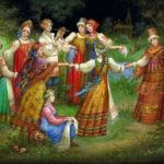 Russian folk dance Khorovod