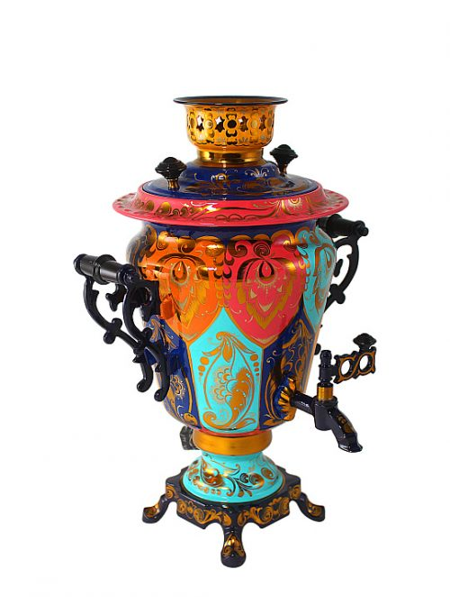 The samovar is 3-liter electric. Manufacturer Russia, Tula.