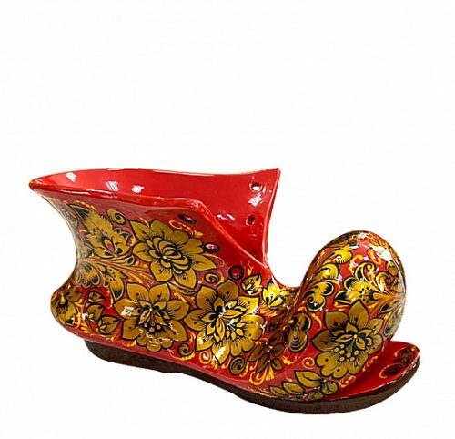 Souvenir shoe. Khokhloma