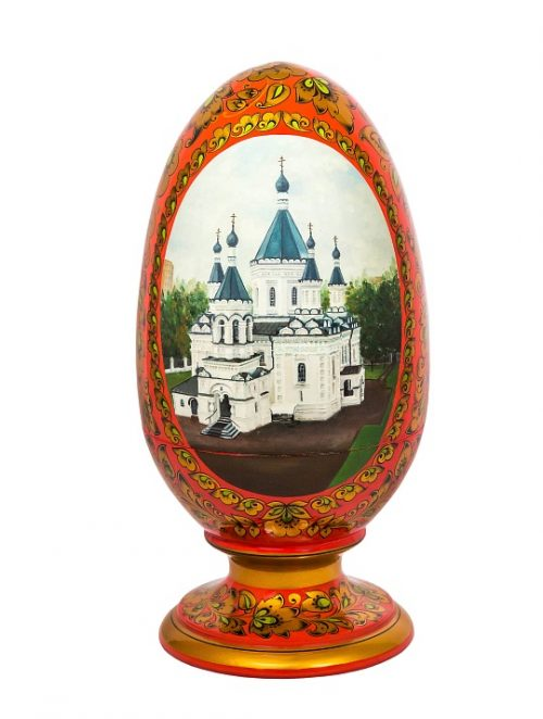 Egg with a stand. Khokhloma