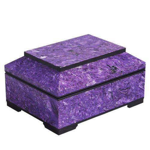 Charoite box. Unique Russian mineral Charoite