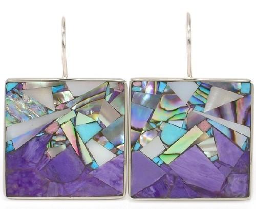 Charoite mosaic jewelry