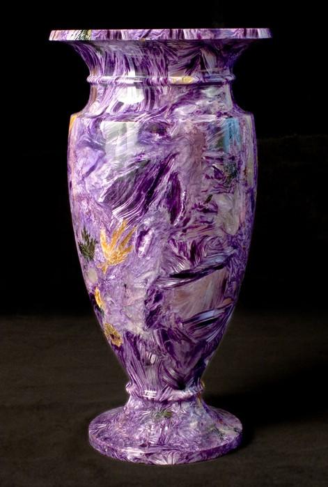 Charoite vase