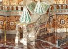 St. Basil Cathedral in Moscow. Great Russia exclusive Zlatoust souvenirs