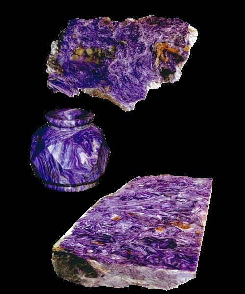 Unique Russian mineral Charoite