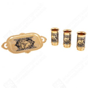 Vodka set Bear (3 stacks of shells, tray)