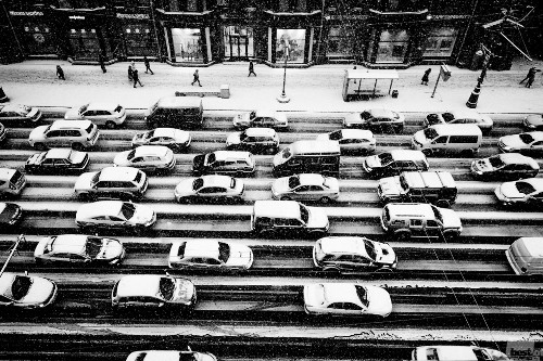 Winter in Moscow  Pascale Bazire. Moscow