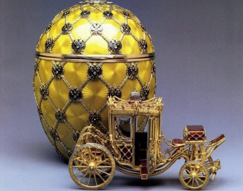 Golden egg in a carriage