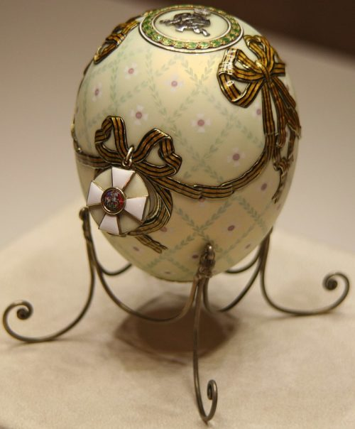 The Order of St. George is a jewelry egg, one of fifty-two imperial Easter eggs made by Carl Faberge for the Russian imperial family.