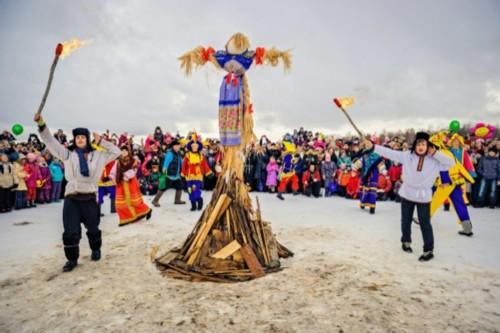 Assembly of the Maslenitsa holiday