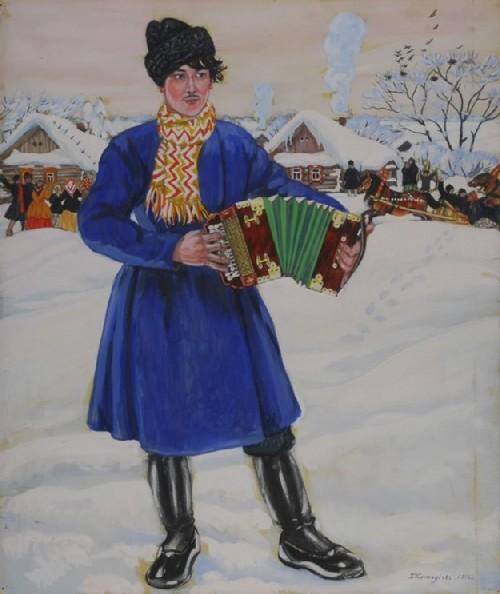 Russian spring festival Maslenitsa. Maslenitsa 1920 Kustodiev
